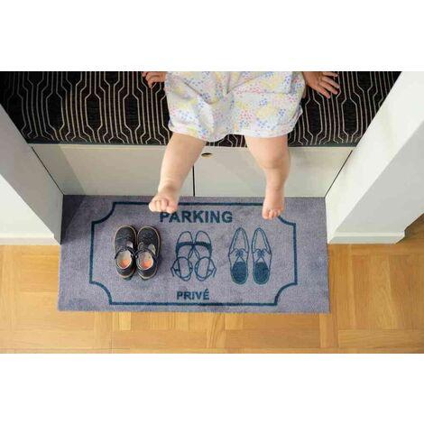 Tapis intérieur absorbant et anti poussière - parking prive - 80x35 cm