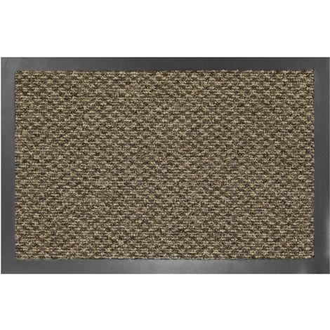 Tapis intérieur anti-poussière Bora beige 60x80cm