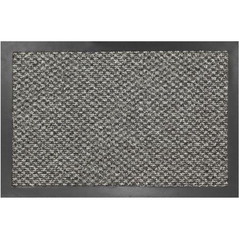 Tapis intérieur anti-poussière Bora gris 60x80cm