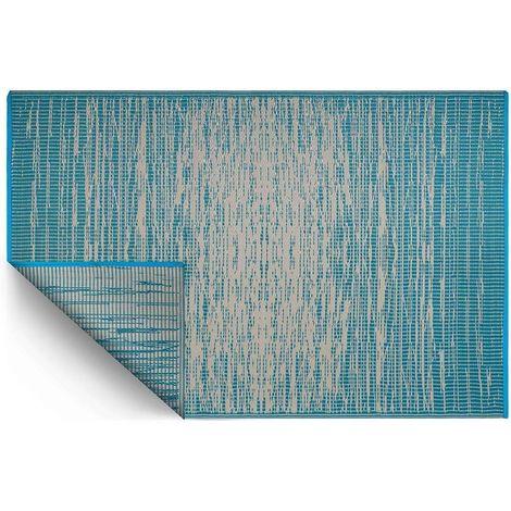 Tapis intérieur extérieur Brooklyn bleu indigo 270 x 180 cm - Bleu indigo