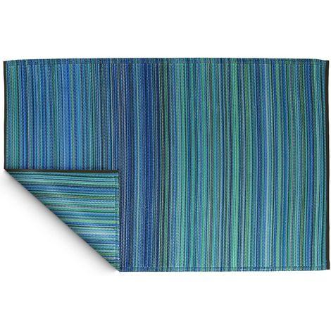 Tapis intérieur extérieur Cancun turquoise et vert 270 x 180 cm - Turquoise