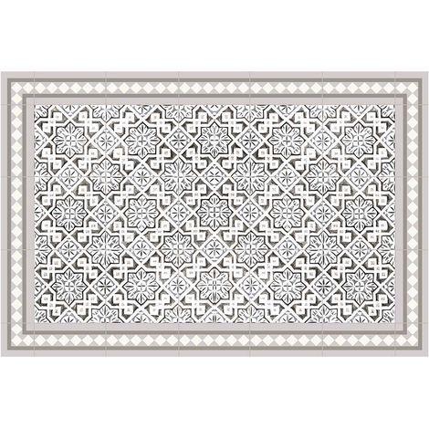 Tapis intérieur extérieur en vinyle carreaux marocains 60 x 90 cm