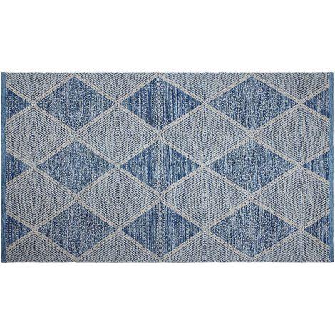 Tapis intérieur extérieur Hampton bleu 150 x 90 cm - Bleu