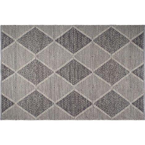 Tapis intérieur extérieur Hampton gris 180 x 120 cm - Gris