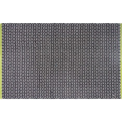 Tapis intérieur extérieur Vernon noir 150 x 90 cm - Noir