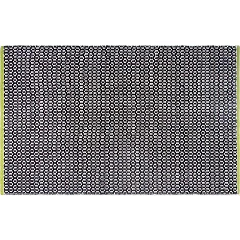 Tapis intérieur extérieur Vernon noir 180 x 120 cm - Noir