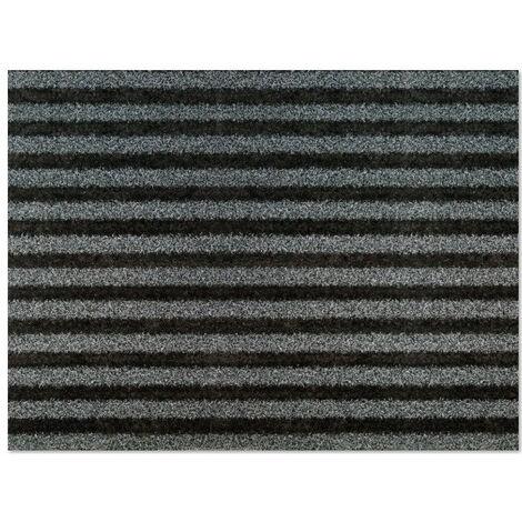 Tapis intérieur grattant et absorbant gris-noir 67x90 cm Bigramat
