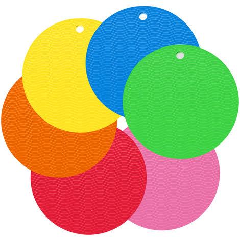Tapis Isolant Pour Vaisselle, 6 Pcs, Texture En Nid D'Abeille Multicolore