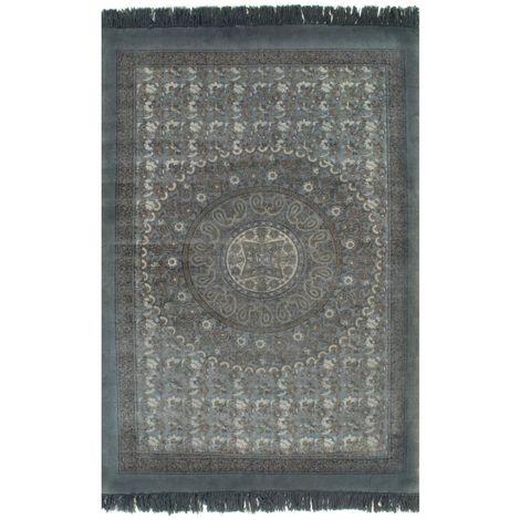 Tapis Kilim Coton 160 x 230 cm avec motif Gris