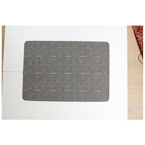 Tapis lavable en machine antidérapant moderne Pinnacle Gris 57x230