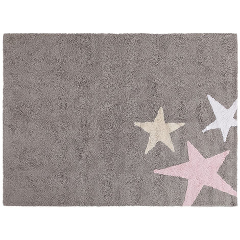Tapis lavable en machine enfant en coton Tres Estrellas Lorena Canals Rose 120x160