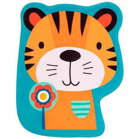 Tapis lavable en machine enfant multicolore antidérapant Tiger Multicolore 60x78