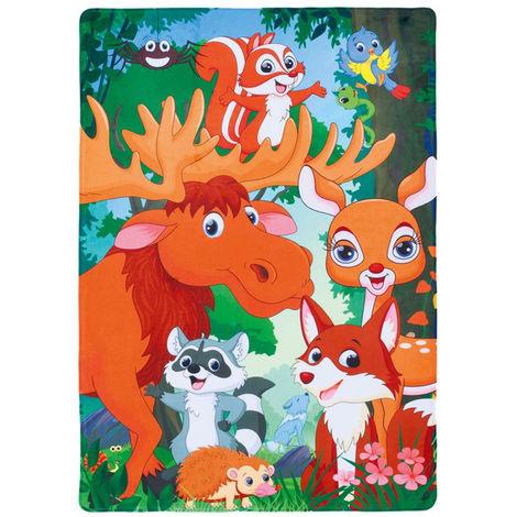 Tapis lavable en machine multicolore Forest Multicolore 100x150