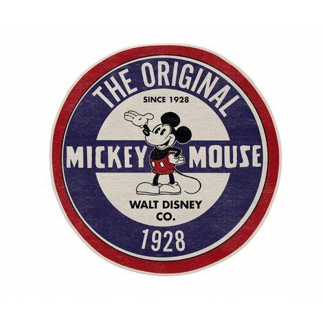 Tapis lavable en machine rond bleu Disney The Original Mickey Bleu Ø 90