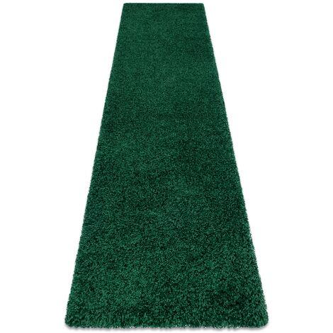 Tapis, le tapis de couloir SOFFI shaggy 5cm bouteille verte - pour la cuisine, l'antichambre, le couloir nuances de vert 60x200 cm