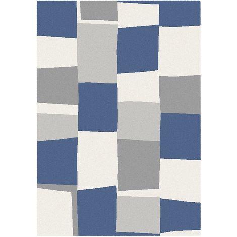 m lange de tapis bleu et gris 120x170 cm kobel 5821598212017. Black Bedroom Furniture Sets. Home Design Ideas