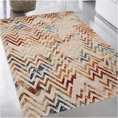 Tapis Moderne cm Rectangulaire VINTAGE CHEVRON Multicolore Polyester