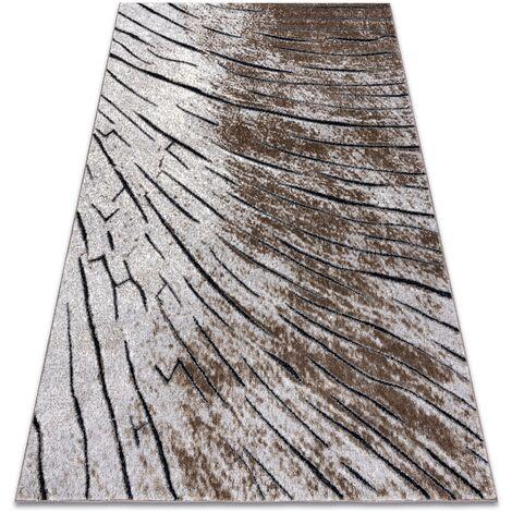 Tapis moderne COZY 8874 Timber, bois - Structural deux niveaux de molleton marron nuances de marron 200x290 cm