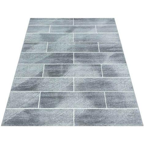 Tapis moderne pour salon rectangle Celan Gris 160x230 - Gris