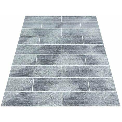 Tapis moderne pour salon rectangle Celan Gris 200x290 - Gris