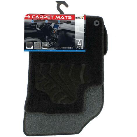 Tapis moquette compatible avec Citroen C3 09-16 sur mesure 4 pieces noir
