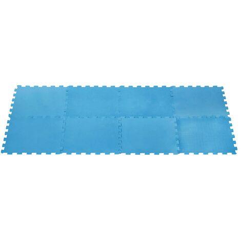 Tapis mousse pour piscine 8 dalles - Bleu