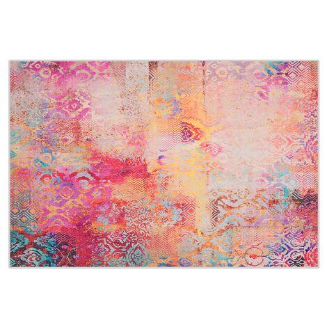 Tapis multicolore au motif abstrait 140 x 200 cm