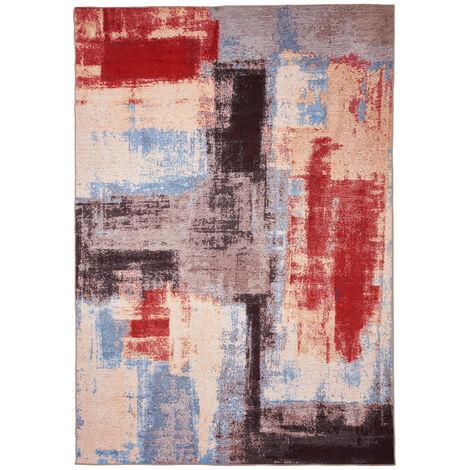 Tapis multicolore de salon en coton design Caserte Multicolore 80x150