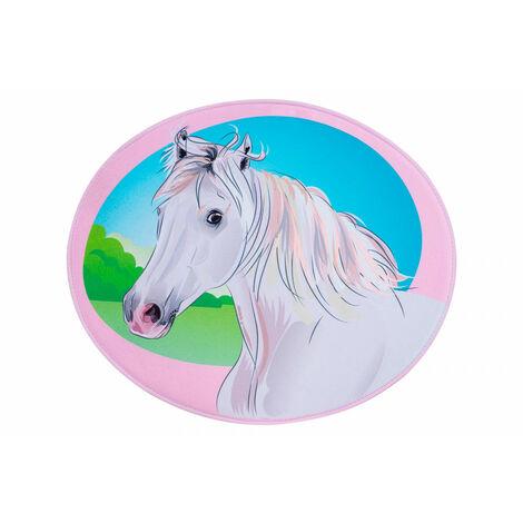Tapis multicolore pour enfant lavable en machine Horse Multicolore 73x60