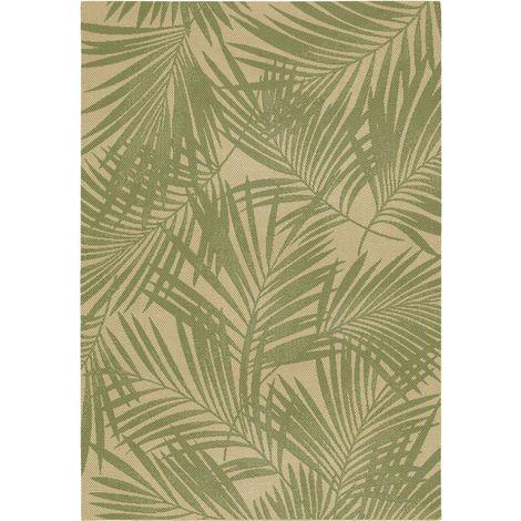 Tapis Naturalis feuillage tropical 120 x 170 - Garden Impressions - vert