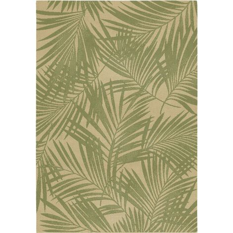 Tapis Naturalis feuillage tropical 200 x 290 - Garden Impressions - vert