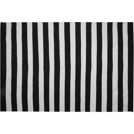 Tapis noir et blanc 160 x 230 cm TAVAS