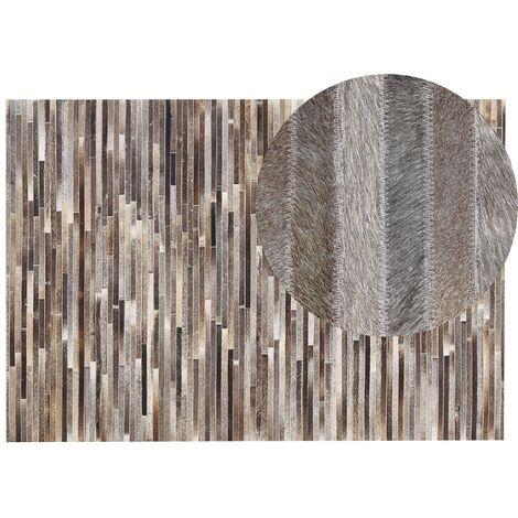 Tapis patchwork en cuir multicolore 140 x 200 cm TUZLUCA