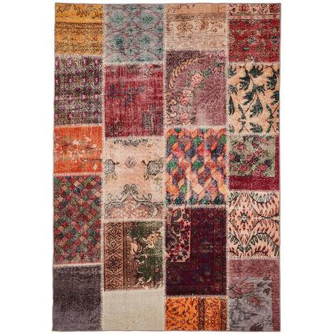 Tapis patchwork multicolore pour salon Barletta Multicolore 80x150
