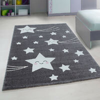 Tapis pour enfant rectangle Suzy Gris 160x230