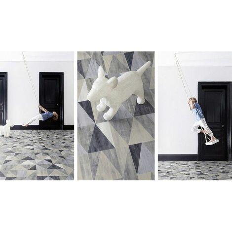 Tapis PVC Carreaux Ciment / Tapis PVC différentes Tailles / Vinyle idéal Style suédois / Tapis de Passage / Recouvrement de Sol - 60x500cm - Provence Ocre.