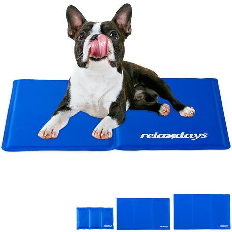 Tapis rafraichissant chien, Auto-rafraichissant, pour animaux, Couverture froide, différentes tailles, bleu