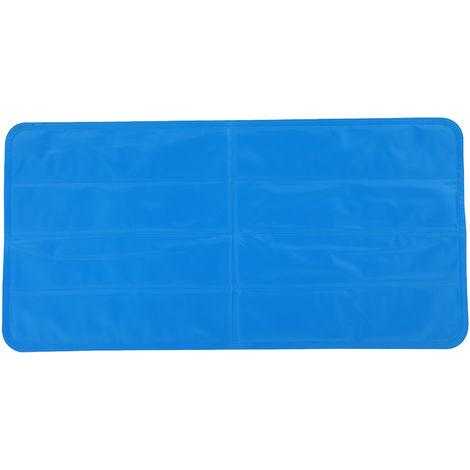 Tapis rafraichissant chien tapis de refroidissement automatique pour animaux de compagnie gel PVC oxford bleu