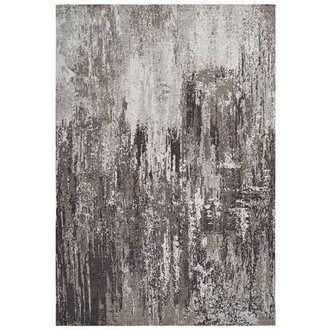 Tapis rayé taupe fait main vintage Cocoon Taupe 200x290 - Taupe