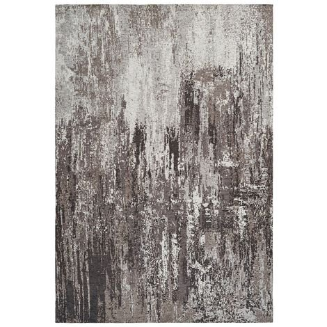 Tapis rayé taupe fait main vintage Cocoon Taupe 80x150 - Taupe
