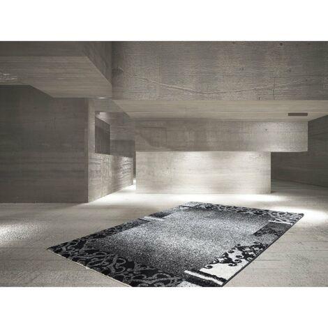 Tapis rectangle contemporain pour salon Bohème Anthracite 160x230 - Anthracite