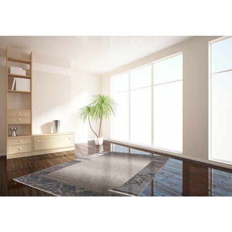 Tapis rectangle contemporain pour salon Bohème Taupe 60x110 - Taupe