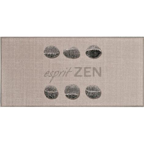 """Tapis Rectangulaire en Polyamide """"Esprit Zen"""" 57 x 115 cm SANS 57 x 115 cm"""