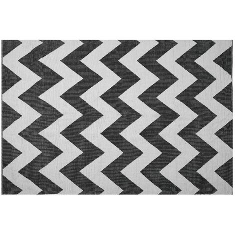 Tapis rectangulaire noir et blanc 140 x 200 KONARLI