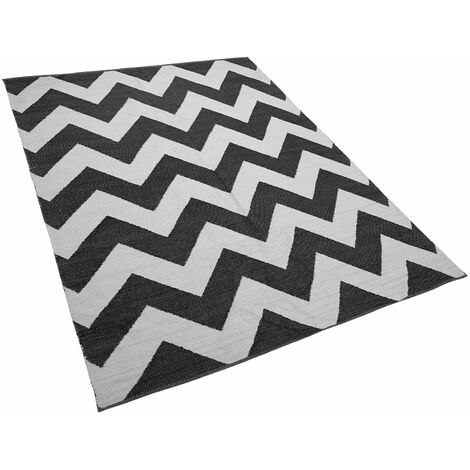 Tapis rectangulaire noir et blanc 160 x 230 KONARLI