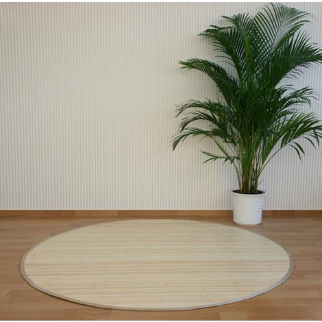 Tapis rond en bambou Naturel 180 cm