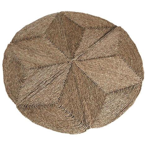 Tapis rond en jonc - Dim : Ø 150 cm