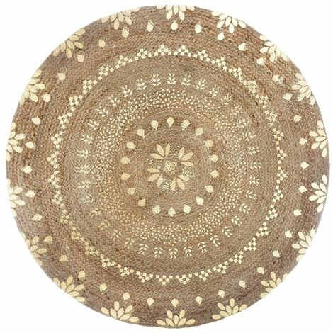 Tapis rond Gold Shine en Jute - Atmosphera