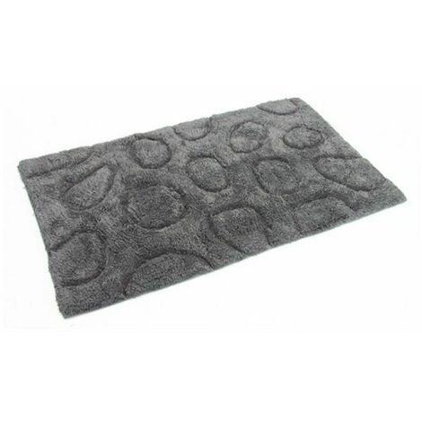 Tapis salle de bain - Décor galets - Gris - 50 x 80 cm - 13745