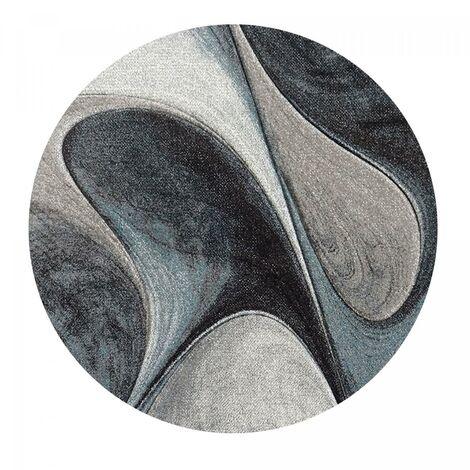 Tapis moderne et design MADILA bleu, gris , noir 200 x 200 ...